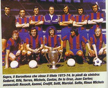 BARCELONA 1973-74.  Страны и клубы.  Испания.